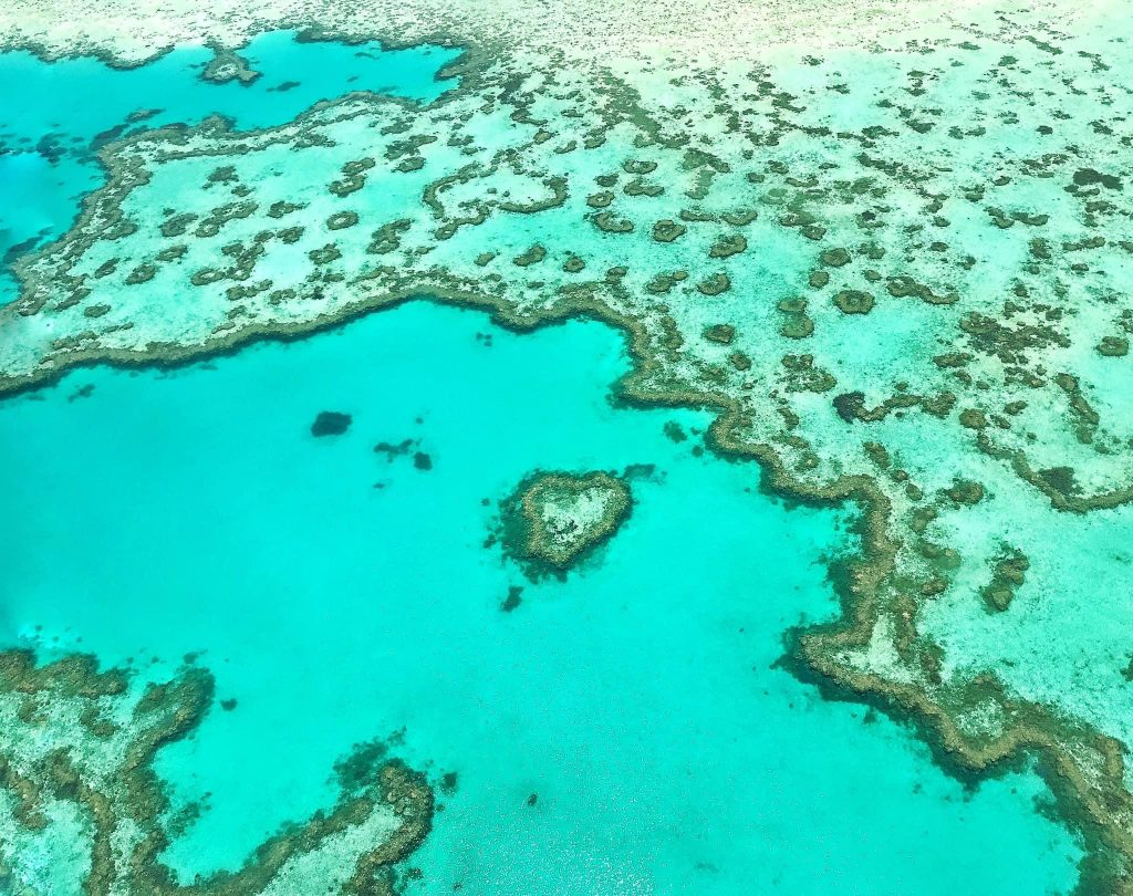 Become a travel nurse Whitsundays aerial view ocean