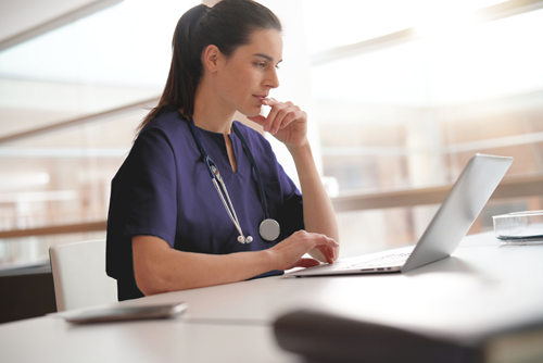 Why Reference checks are important Nurse at computer