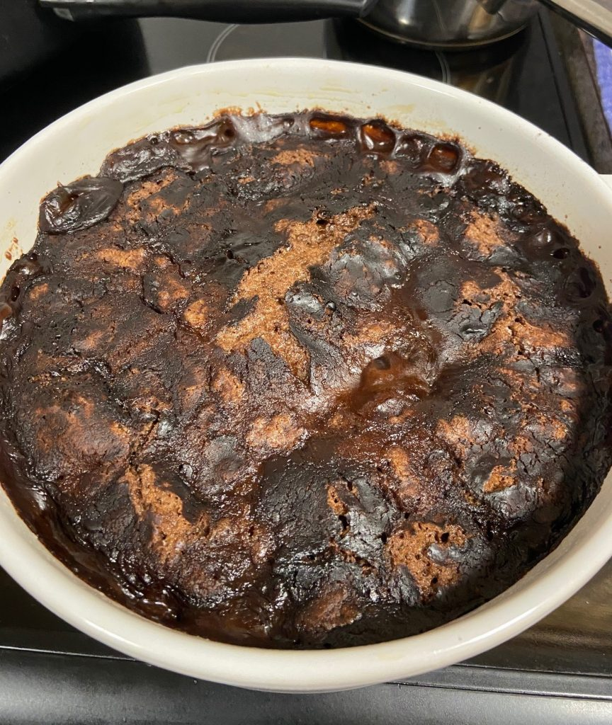 affinity nurses spending time in isolation chocolate self saucing pudding
