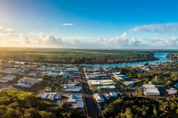 Ariel view of Bundaberg Queensland Hot Spot